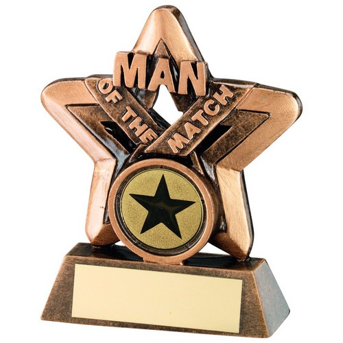 BRZ/GOLD MAN OF THE MATCH MINI STAR TROPHY