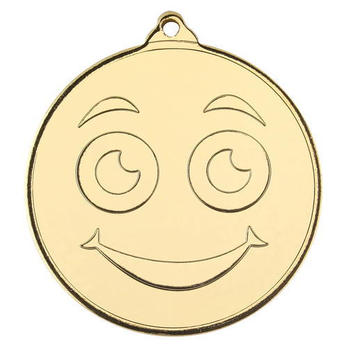SMILEY FACE GOLD MEDAL